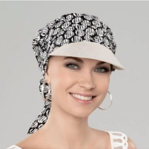 Hair loss bandana with peak